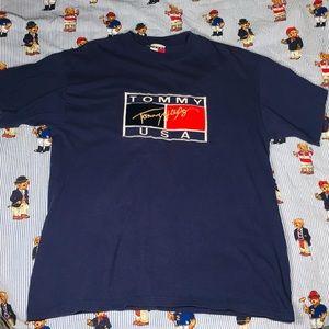 VTG Tommy Hilfiger Logo T Shirt Men Sz L
